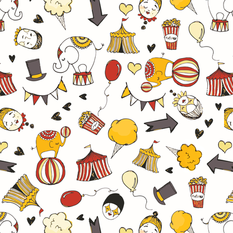 Circus fabric by laurawrightstudio on Spoonflower - custom fabric