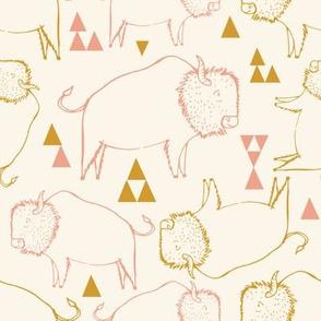 buffalo pink and gold