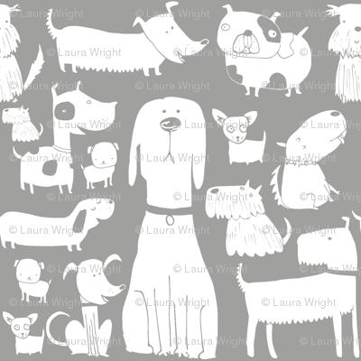 dogs grey