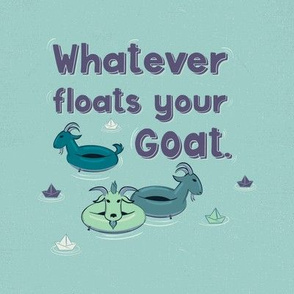 Floating Goat Pun Swatch Project