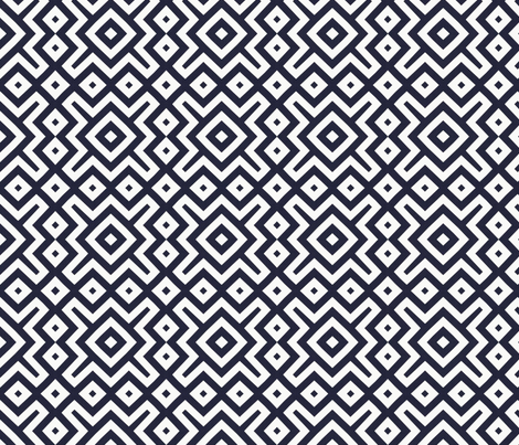 black white diamond pattern fabric by tell3people on Spoonflower - custom fabric