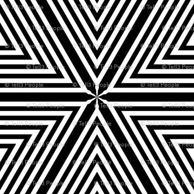Black White Stripe Diamonds tell3people