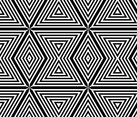 Black White Stripe Diamonds tell3people  fabric by tell3people on Spoonflower - custom fabric