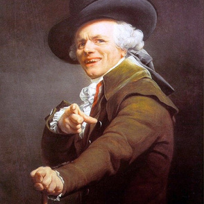 Ducreux - Self Portrait in the Guise of a Mockingbird (1791)