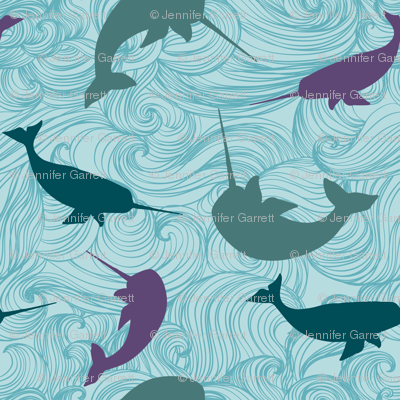 Narwhal  Blue Purple