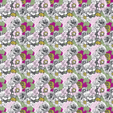 peonies roses and more fabric by wolfie_and_the_sneak on Spoonflower - custom fabric