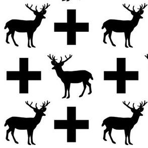 deer plus white black