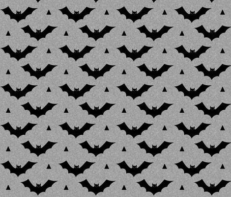 bat light grey fabric by charlottewinter on Spoonflower - custom fabric