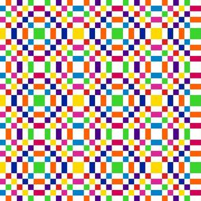 Rainbow Checkerboard in Mirror Repeat