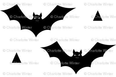 bat white black