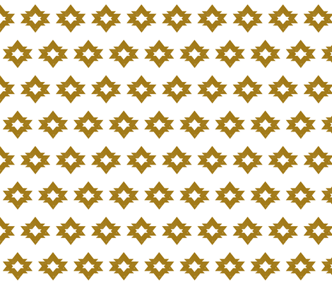 Aztec - Golden Ochre by Andrea Lauren  fabric by andrea_lauren on Spoonflower - custom fabric