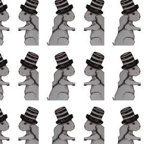 Bunny hat grey
