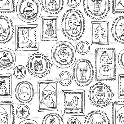 christmas portraits // black and white kids cute holiday christmas fabric