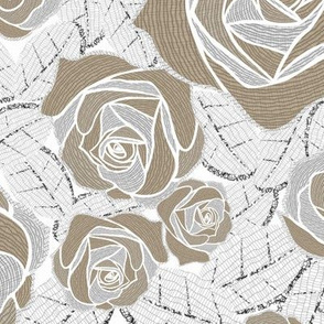 Retro Rose Earth White