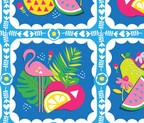 tropicool_tile02 fabric by teamkitten on Spoonflower - custom fabric