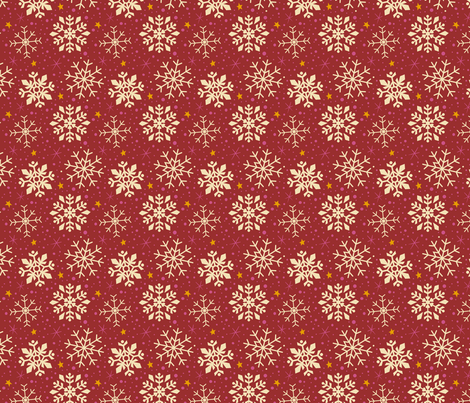 Festive Red & White Snowflakes fabric by kristykate on Spoonflower - custom fabric