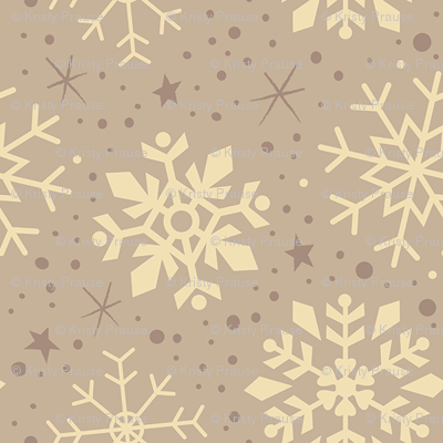 Creamy Latte Snowflakes