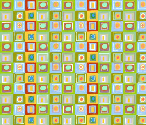 chalk squares fabric by kimmurton on Spoonflower - custom fabric