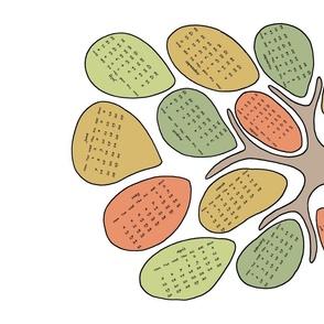 Tree Teatowel Calendar 2015 by Iammia