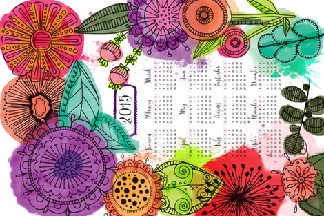 The Year to Blossom fabric by olivia_henry on Spoonflower - custom fabric