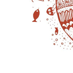 2019 tea towel calendar - fish