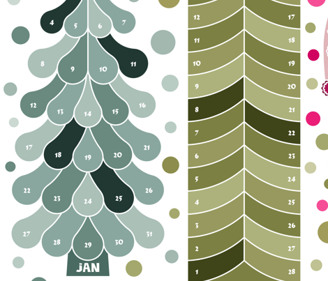 Tree calendar 2015 (updated 2016)