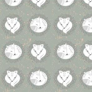 Arctic fox 2 inch