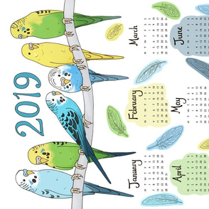 Budgies 2019 Calendar