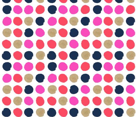 lipstick dots fabric by charlottewinter on Spoonflower - custom fabric