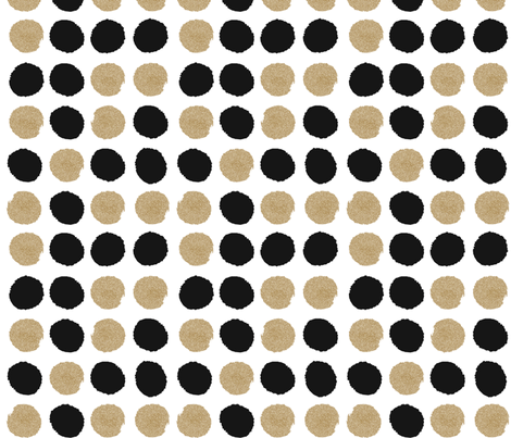 dots black and gold glitter fabric by charlottewinter on Spoonflower - custom fabric