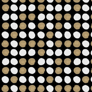 dots gold glitter black white