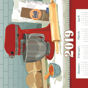 2019 Calendar Towel - The Beloved Stand Mixer