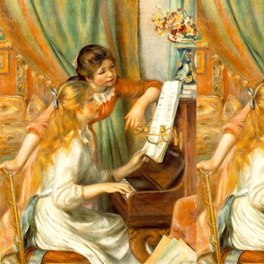 Two Young Girl At The Piano