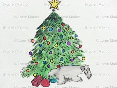 Cesky Terrier My Tree