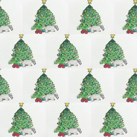 Cesky Terrier My Tree fabric by altrincham on Spoonflower - custom fabric