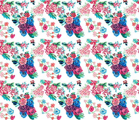Geometric Floral Pattern fabric by biancaparis on Spoonflower - custom fabric