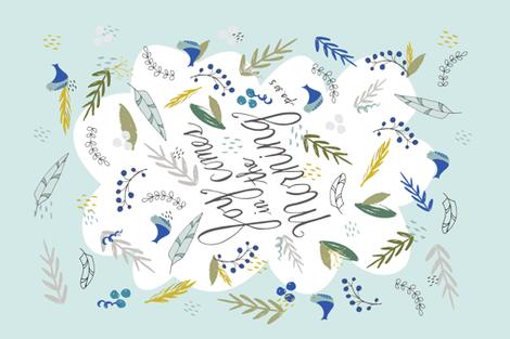 Joyful Morning Tea Towel fabric by radianthomestudio on Spoonflower - custom fabric