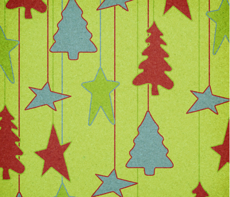 Trees_and_Stars_Ornaments fabric by kds_designs on Spoonflower - custom fabric