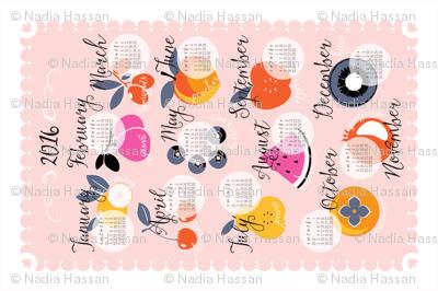 2016 Seasonal Fruit Calendar
