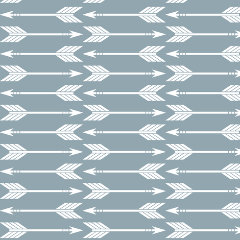 arrows // blue - Rustic Woods Collection fabric by littlearrowdesign on Spoonflower - custom fabric