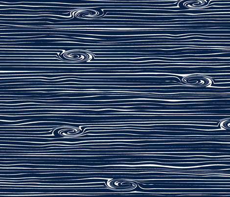 Woodgrain Navy // Rustic Woods Collection fabric by littlearrowdesign on Spoonflower - custom fabric