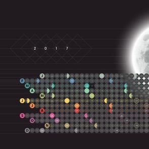 2017 Mod Moon Calendar by Friztin