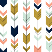 Fletching arrows // mint/coral/navy/gold