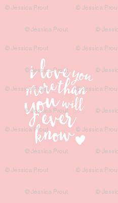 i love you more than you will ever know // crib sheet layout rose quartz