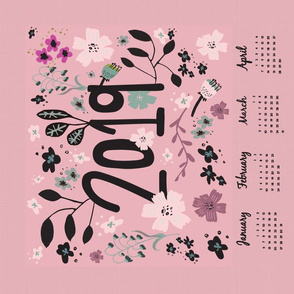 2019 girly tea towel calendar