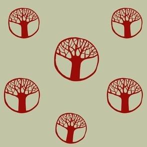 circle trees grey