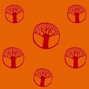 circle trees orange