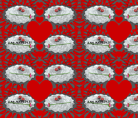 Imagine at Strawberry Fields (larger) fabric by robin_rice on Spoonflower - custom fabric