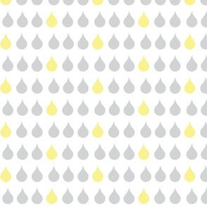 Raindrops - gray