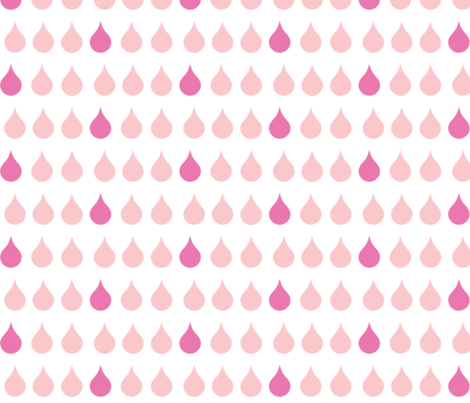 Raindrops - pink berry fabric by drapestudio on Spoonflower - custom fabric